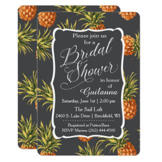 Pineapple Tropical Bridal Shower Invitation