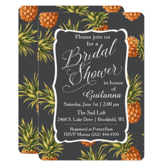 Pineapple Tropical Bridal Shower Invitation