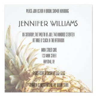 Pineapple Tropical Bridal Shower Invitations