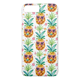 PineApple & Tropical Flowers Pattern GR2 iPhone 8 Plus/7 Plus Case