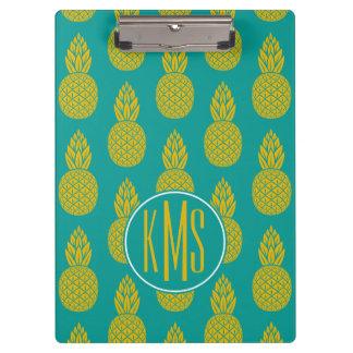 Pineapple Tropical Fruit | Monogram Clipboard