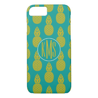 Pineapple Tropical Fruit | Monogram iPhone 8/7 Case