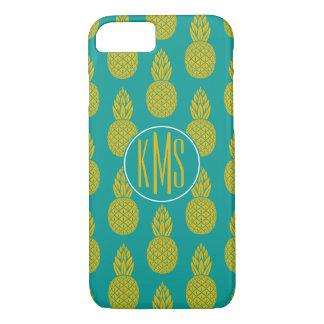 Pineapple Tropical Fruit   Monogram iPhone 8/7 Case