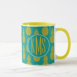 Pineapple Tropical Fruit | Monogram Mug