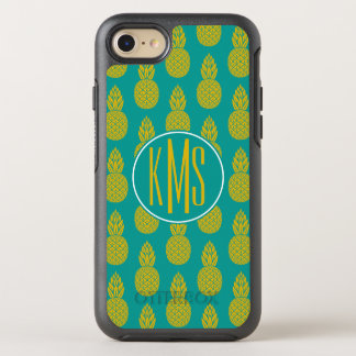 Pineapple Tropical Fruit   Monogram OtterBox Symmetry iPhone 8/7 Case