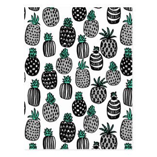 Pineapple - Tropical Fruit Summer / Andrea Lauren Postcard