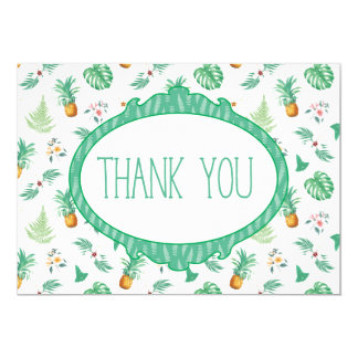 Pineapple Tropical Fruit Trendy Thank You card