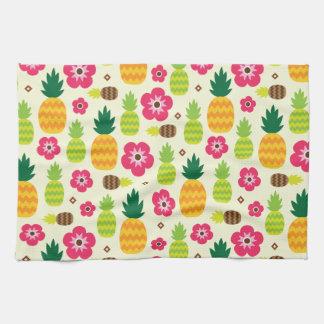Pineapple Tropical Summer Seamless Pattern Tea Towel