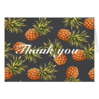 Pineapple Tropical Thank you card