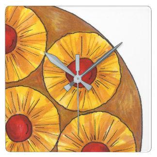 Pineapple Upside Down Cake Baking Kitchen Clock