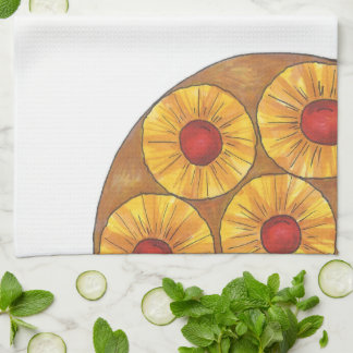 Pineapple Upside Down Cake Baking Kitchen Towel