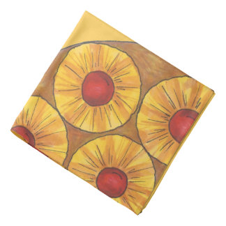 Pineapple Upside Down Cake Cherry Foodie Bandana