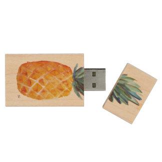 Pineapple USB Wood USB 2.0 Flash Drive