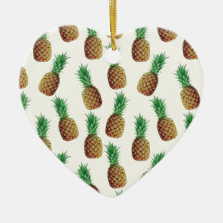 Pineapple Wallpaper Pattern Christmas Ornament