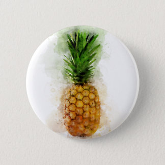 Pineapple Watercolor 6 Cm Round Badge