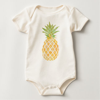 Pineapple Watercolor Baby Clothing Baby Bodysuit