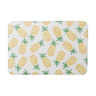 Pineapple watercolor bath mat