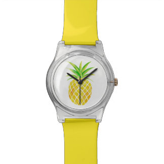 Pineapple Watercolor Bright Tropical Watch
