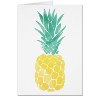Pineapple Watercolor Greeting Card (Blank Inside)
