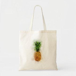 Pineapple Watercolor Tote Bag