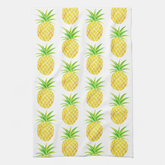Pineapple Watercolor Tropical Kitchen Towel