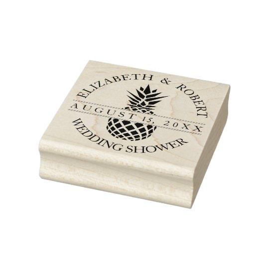 Pineapple Wedding Shower Rubber Stamp