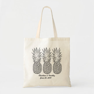 Pineapple Wedding Welcome Bag,Wedding Favor/Gift Budget Tote Bag