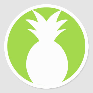 Pineapple Welcome Graphic Classic Round Sticker
