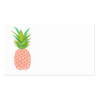 Pineapple +White Business Card Templates