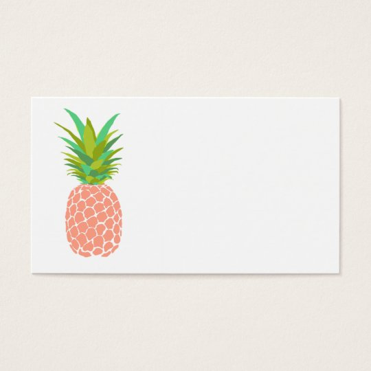 Pineapple +White Business Card