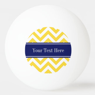 Pineapple White LG Chevron Navy Blue Name Monogram Ping Pong Ball