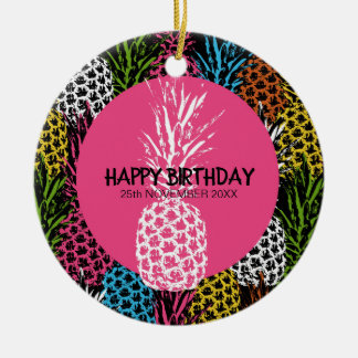 Pineapple Wild and Sweet Christmas Ornament
