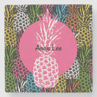 Pineapple Wild and Sweet Stone Coaster