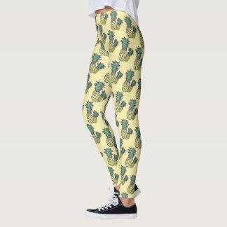 Pineapple Yellow Pattern Tropical Legging