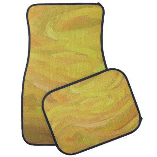 Pineapple Yellow Swirl Car Mat
