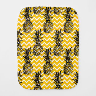 Pineapple Zigzags Burp Cloths