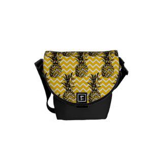 Pineapple Zigzags Messenger Bag