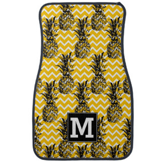 Pineapple Zigzags | Monogram Car Mat