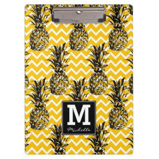 Pineapple Zigzags | Monogram Clipboard