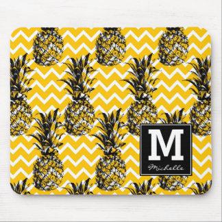 Pineapple Zigzags | Monogram Mouse Pad