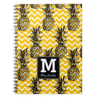 Pineapple Zigzags | Monogram Notebooks
