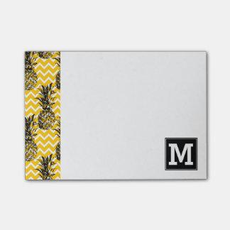Pineapple Zigzags   Monogram Post-it® Notes