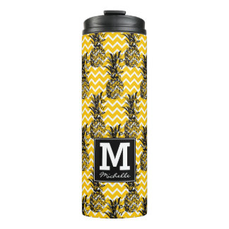 Pineapple Zigzags | Monogram Thermal Tumbler