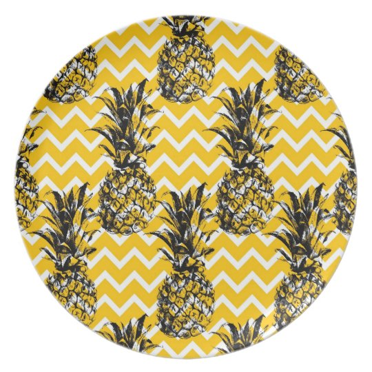 Pineapple Zigzags Plate