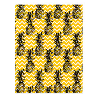 Pineapple Zigzags Postcard