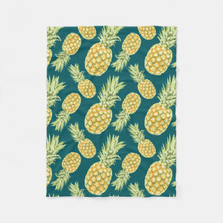 Pineapples (2) fleece blanket