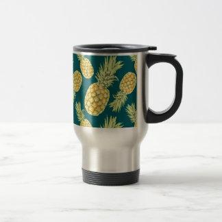 Pineapples (2) travel mug