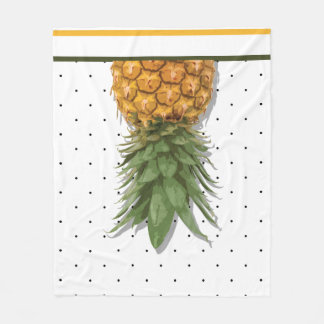 Pineapples and Polka-Dots Fleece Blanket