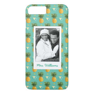 Pineapples Geometric | Add Your Photo & Name iPhone 8 Plus/7 Plus Case