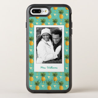 Pineapples Geometric | Add Your Photo & Name OtterBox Symmetry iPhone 7 Plus Case
